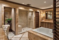Looking for Tropical Bathroom ideas? Browse Tropical Bathroom images for decor, layout, furniture, and storage inspiration from HGTV. Master Bathroom Shower, Modern Master Bathroom, Bathroom Floor Tiles, Budget Bathroom, Bathroom Renovations, Master Bathrooms, Bathroom Ideas, Bathroom Vanities, Bathroom Small