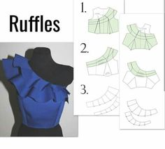 Ruffles, Ruffle Top, Pattern Drafting, Top Pattern, Pattern Making, Frocks, Sewing Patterns, Long Frock, Pink