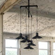 Hanglamp 5L industrial tube multi shade