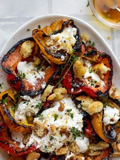 Grilled Peppers, Roasted Red Peppers, Vegetarian Recipes, Healthy Recipes, Vegetarian Dish, Clean Recipes, Veggie Recipes, Gourmet Recipes, Appetizers