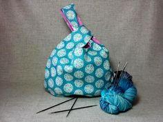 Große Knotentasche, Wendetasche, Gänseblümchen, türkis und pink, Häkeltasche, Stricken von frostpfoetchen auf Etsy
