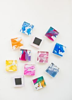 hello, Wonderful - DIY GLASS TILE MAGNETS FROM KIDS' ART