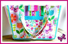Busy Bees Child's Tote Little Girls Bag from Susie D Designs - Sewing Patterns