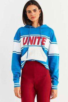 Slide View: 1: Unite Cropped Hoodie Sweatshirt