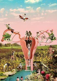 poemas de alaide foppa 4 Psychedelic Art, Collage Art, Collages, Pintura Hippie, Birth Art, Feminist Art, Sagrada, Young Women, My Arts