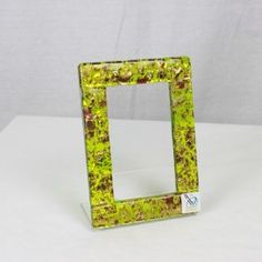 Photo Frame Klimt - Green and gold - fusing glass Personalised Gifts Unique, Unique Gifts, Klimt, Corporate Gifts, Murano Glass, Green And Gold, Oversized Mirror, Gadgets, Frame