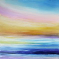 Sunset painting Beach painting Seascape art Ocean painting
