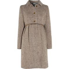 Miu Miu Wool-blend tweed coat ($1,075) ❤ liked on Polyvore