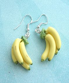 banana bunch earrings- food jewelry, fruit earrings, tropical fruit jewelry – Hobbies paining body for kids and adult Weird Jewelry, Cute Jewelry, Jewelry Accessories, Geek Jewelry, Gothic Jewelry, Jewellery Box, Jewelry Ideas, Jewelry Necklaces, Funky Earrings