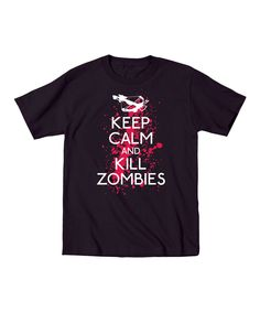 This Black 'Keep Calm and Kill Zombies' Tee by  is perfect! #zulilyfinds