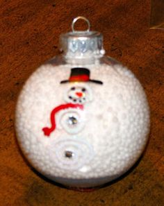 JeNNspeak: Snowman Snow Globe Ornament