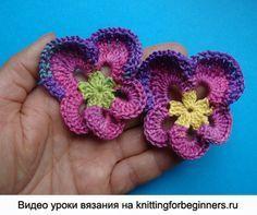 Crochet - Pansies ! on Pinterest