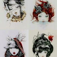 ART :: Sleeping Beauty, The Little Mermaid, Red Riding Hood and Snow White Illustrations by Courtney Brims . Also Great As Tattoos Illustrations, Illustration Art, Et Tattoo, Tiny Tattoo, Tattoo Pain, Temporary Tattoo, Drawn Art, Arte Sketchbook, Disney Images