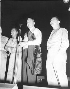 Jack Benny entertaining troops during a USO show in Africa in 1943. USO Camp Shows, Inc. _ NATOUSA | Flickr.com - gbaku