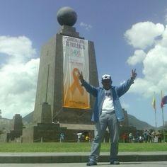 En la mitad del mundo Quito Ecuador.