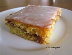 Honey Bun Cake - made with yellow cake mix, a nice cheat for someone like me who is a little baking impaired!