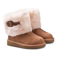 UGG Australia Ellee Chestnut Boots with Fur Cuff | AlexandAlexa