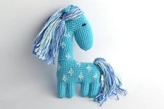 Crochet Art Doll Little Horse, Cute stuffed animals, Soft toys for baby, Holiday gift kids, Unique birthday gift, Unusual handmade dolls