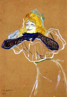 "Free art print of Yvette Guilbert Singing ""Linger, Longer, Loo"" by Henri De Toulouse-Lautrec. Oil on cardboard. 57 x 42 cm. The Pushkin Museum of Fine Art, Moscow, Russia. Henri De Toulouse Lautrec, Museum Of Fine Arts, French Artists, Les Oeuvres, Art History, Painting & Drawing, Art Nouveau, Illustration, Graphic Art"