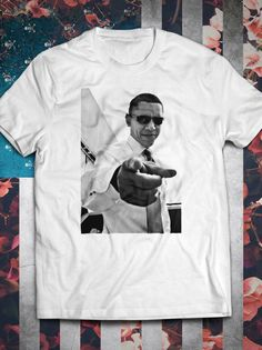 Barack Obama POTUS cool SWAG T-Shirt by IconikProject on Etsy