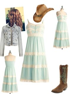 """Daughter's 8th Grade graduation dress"" by countrybluegrasschick ❤ liked on Polyvore"