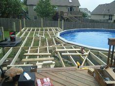 Above Ground Pool Deck Off House decks built off back of house with above ground pool - google