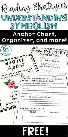 Poetry analysis essay graphic organizer poetry pinterest help your students understand symbolism as they read complex texts with these free symbolism anchor charts fandeluxe Gallery