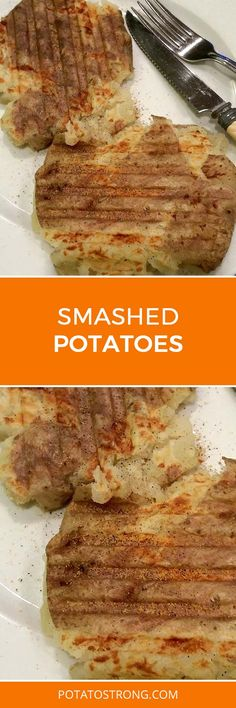 Smashed potatoes vegan no oil