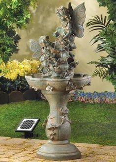 Hummingbird Haven Lighted Garden Fountain | Pinterest | Garden Fountains,  Hummingbird And Fountain