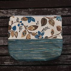 Excited to share the latest addition to my #etsy shop: Floral Makeup Bag http://etsy.me/2o07KEX #bagsandpurses #blue #floral #makeup #bag #accessory #travelling #zippedbag #handmade #forsale #home #cute