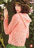 lady lace knit sweater pink hoodie