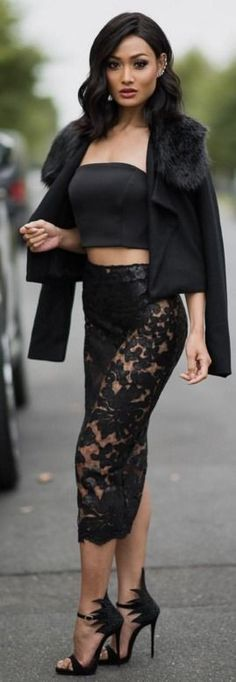 All In Black Spring Street Style | — Today ♠️ Jacket & skirt @wantmylook | Micah Gianneli #all