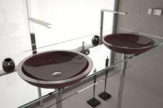 artigos sanitários de vidro, aço e pedra Design Vidro: Alumix