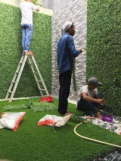 Small Backyard Landscaping, Backyard Garden Design, Small Garden Design, Backyard Projects, Patio Design, Backyard Patio, Jardin Vertical Artificial, Vertikal Garden, White Vinyl Fence