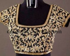 Sequins Work Black Blouses | Saree Blouse Patterns