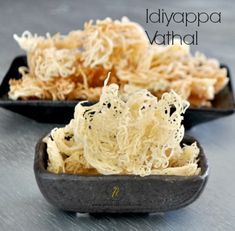 To attract the kids we can make vathal using different molds and also serve them as a snack for the kids. Making koozh vadam in idiyappam achi is cool idea. Veg Appetizers, Indian Appetizers, Indian Snacks, Indian Food Recipes, Appetizer Recipes, Snack Recipes, Cooking Recipes, Kerala Recipes, Rice Recipes