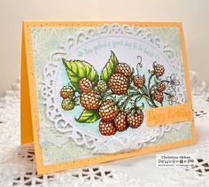 ChristineCreations: Golden Raspberries: Berry It Digital Stamp Set by Power Poppy!
