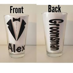 Groomsmen Glasses-Bridal Party Gifts-Best Man Gift-Groomsmen Gifts-Wedding Party Gifts-Tuxedo-Groomsmen Beer Mugs by FromAtoZbyTami on Etsy