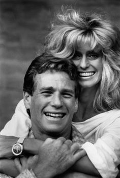 Ryan O'Neal and Farrah Fawcett. Ryan stood by Farrah until the very end. They were soul mates.  (BB)