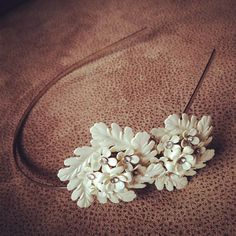 gorgeous bridal headband + vintage iridescent flower clusters + rhinestones + silver headband + vintage bridal + wedding hair + $95 on etsy + FREE SHIPPING + 1950's jewelry + bridal hair