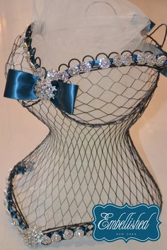 Wire Form Corset Bustier Bridal Shower - Wedding - Bachelorette - Sweet 16 - Quincinero - Bat Mitzvah Centerpiece $70