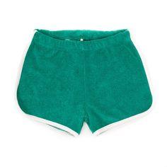Green Arthur Terry Shorts - Lily Balou Online