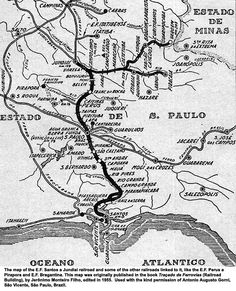 The Baron de Maua enlisted the help of British engineer James Brunlees, who in turn hired his former student D.M. Fox, to undertake a survey of the São Paulo area.  Brunlees approved the survey and Messrs. Robert Sharpe & Sons of England were engaged as contractors,  hiring about three hundred workers.  Construction of the São Paulo Railway began in 1860, necessitating the navigation of the almost vertical slopes of the Serra do Mar area which separates the interior from the coast.  The 139…