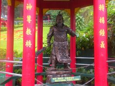 A chinese dynastic figure is celebrated in one kiosk