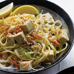 Stir-fried Thick and Thin Noodles with Vegetables and Tofu (Pancit) | MyRecipes.com