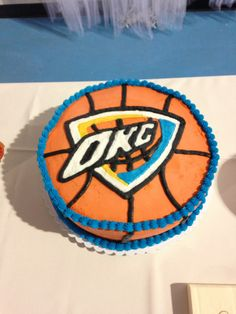OKC Thunder Groom's Cake Basketball