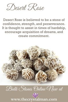Desert Rose ~ Confidence-Strength-Perseverance-Hardship-Dreams-Commitment Shop new raw stones online now at The Crystal Man! Desert Rose ~ Confidence-Strength-Perseverance-Hardship-Dreams-Commitment Shop new raw stones online now at The Crystal Man! Crystal Healing Stones, Stones And Crystals, Gem Stones, Quartz Crystal, Minerals And Gemstones, Crystals Minerals, Desert Rose Crystal, Crystal Guide, Crystal Magic