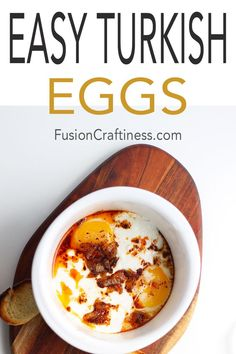 An easy traditional Turkish Eggs Recipe that is swimming in layers of flavor yet easy enough for a weeknight meal. With just a few, easy to find ingredients, make this any night of the week for a special vegetarian treat. This meal is perfect for dipping crusty bread into. #eggs #TurkishEggs #Vegetarian #WeeknightMeal #EasyRecipe