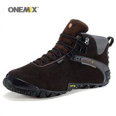 fcd20f2cc583 Onemix 2016 autumn winter men s outdoor sport shoes anti slip sport shoes  and wool lining men hiking shoes warm trekking shoes