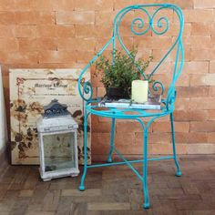 Cadeira Charme Azul Tiffany :: Loja Dom Mascate